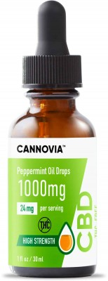 Cannovia - THC Free CBD Oil Drops - Peppermint Flavour